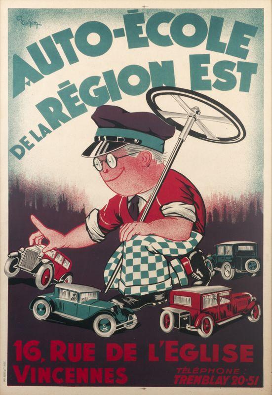 cahon a auto ecole de la region est rue de l 39 eglise vincennes 1920 ca 1920 39 s posters. Black Bedroom Furniture Sets. Home Design Ideas