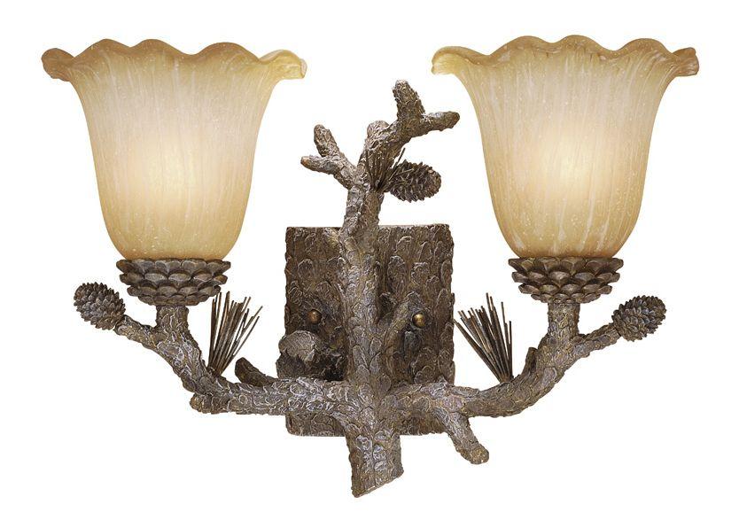 good Cabin Vanity Light Part - 9: Aspen Ponderosa Vanity Light - 2 Light