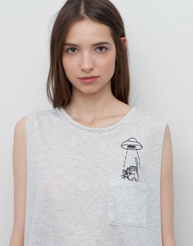 CAMISETA PRINT BOLSILLO | Lovely T-shirt | Pinterest
