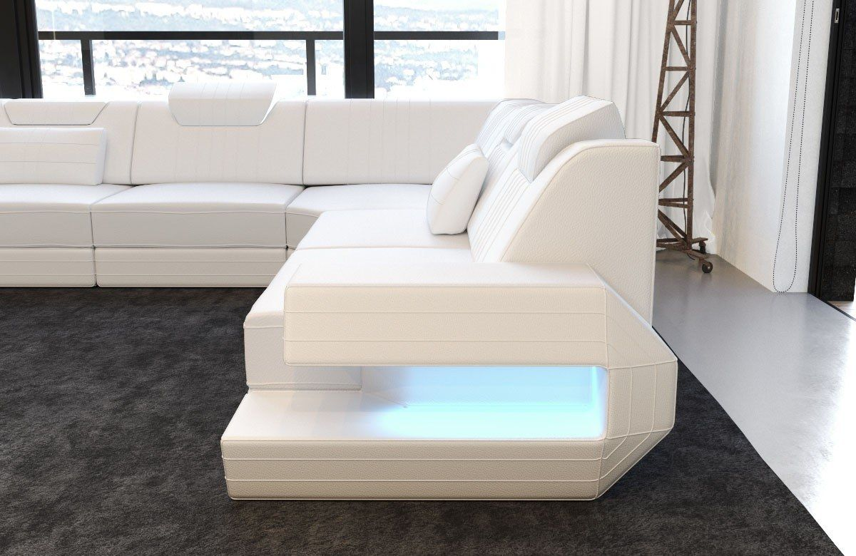 Sectional Sofa San Antonio Best Way To Clean Black Leather Luxury U Shape In 2019 With Led And Usb Port