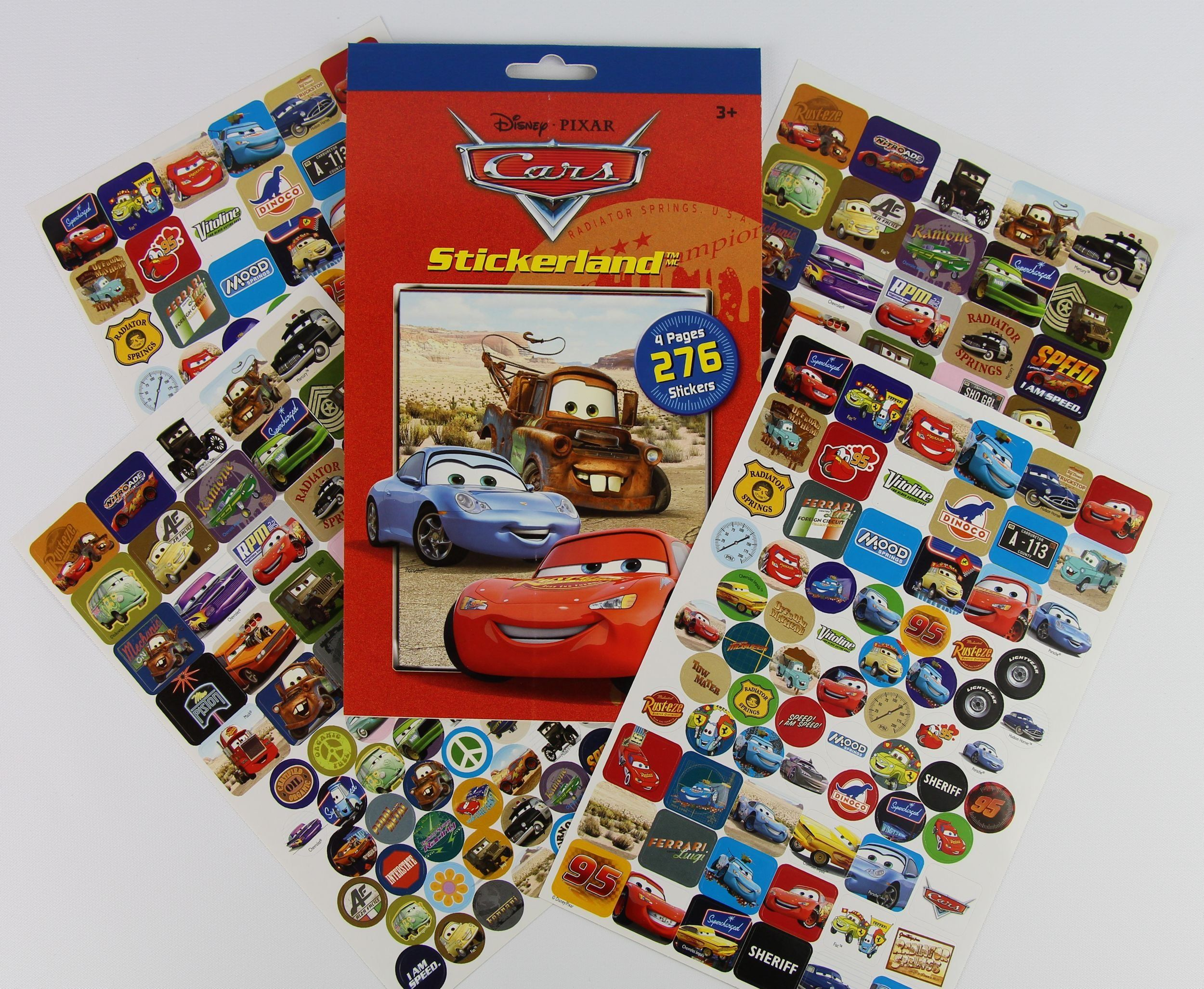 100 New Disney Pixar Cars Lightning Mcqueen Children Kids Bag of Stickers Reward
