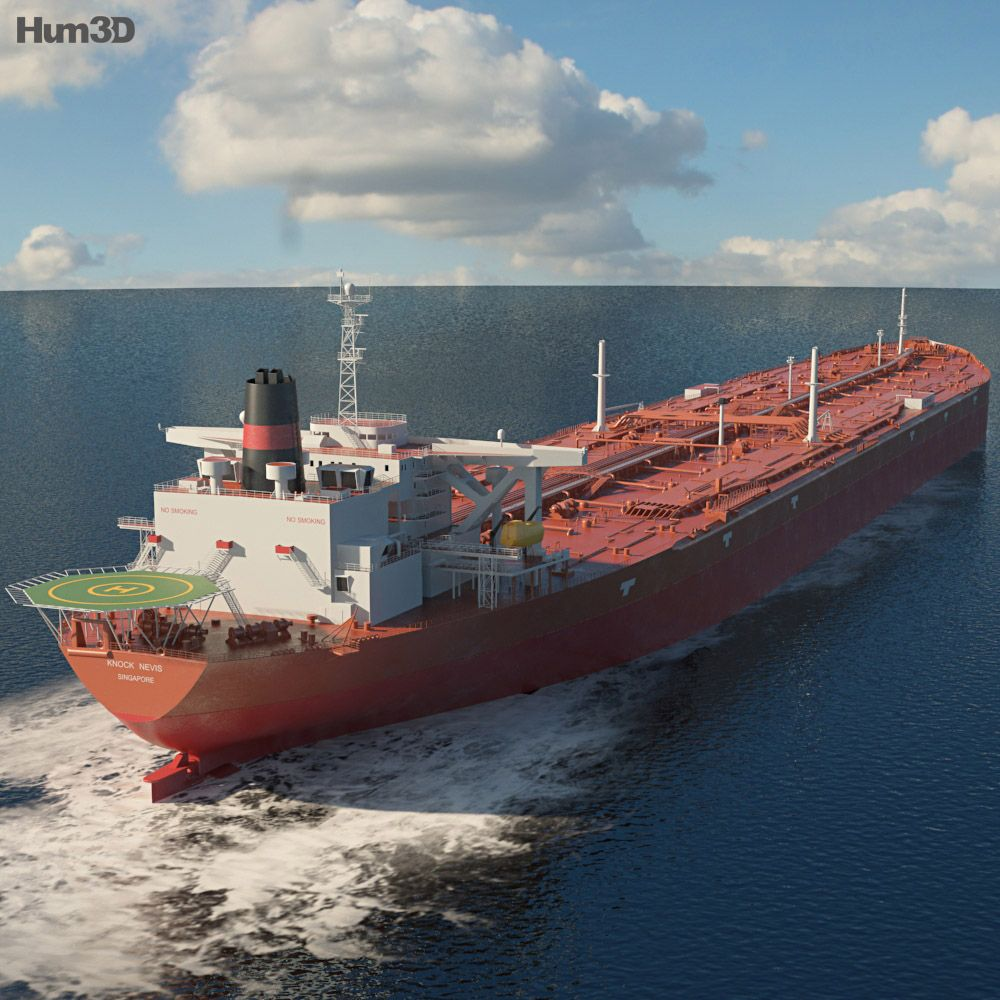 3d model of knock nevis ulcc supertanker in 2020 model