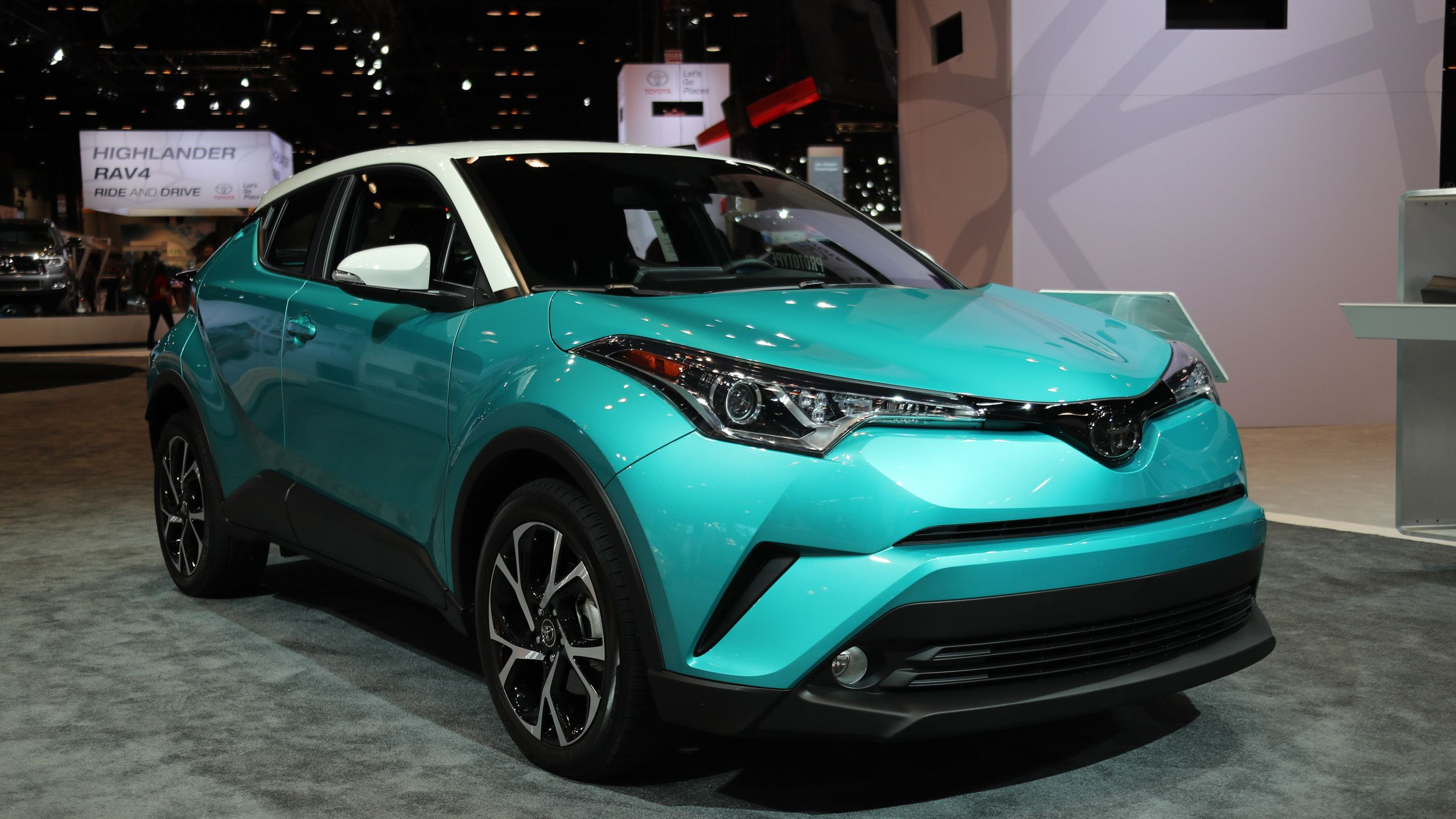 Deal in teal toyota rolls on the latest c hr crossover at chicago