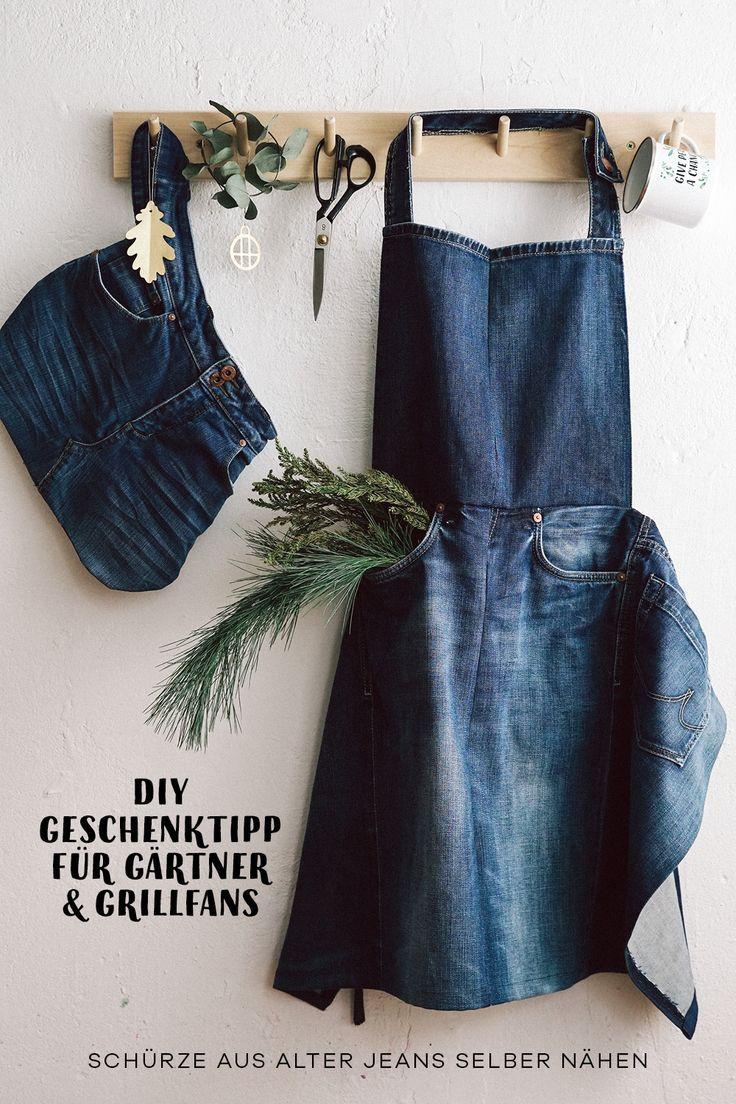 Photo of Gartenschürze oder Grillschürze aus alten Jeans selbst nähen – Garten Blog Hauptstadt Garten
