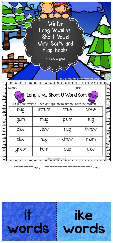 Winter Long Vowels Vs Short Vowels