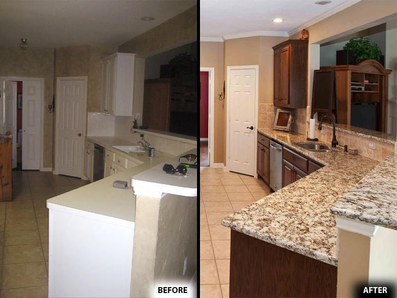kitchen remodeling before and after in plano tx rh pinterest com