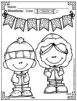 Winter Fun Color For Fun Printable Coloring Pages Coloring Pages Winter Fun Christmas Coloring Pages