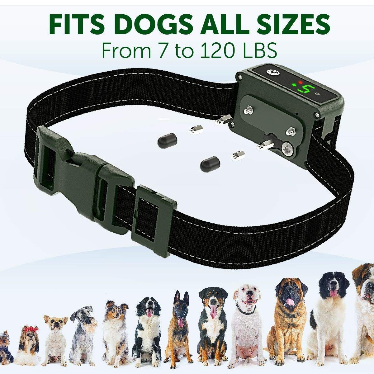 Tbi Pro Newest 2019 Rechargeable Bark Collar Upgraded Smart
