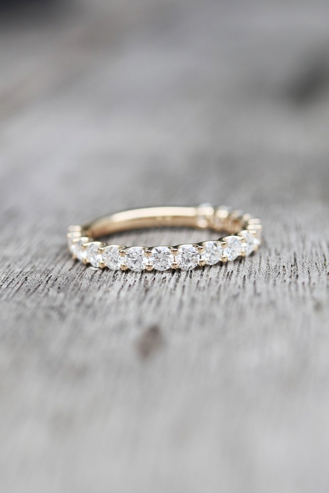 Curved wedding band white gold Marquise cut Diamond wedding band simple Vintage Unique Moissanite Matching Stacking Bridal Anniversary band
