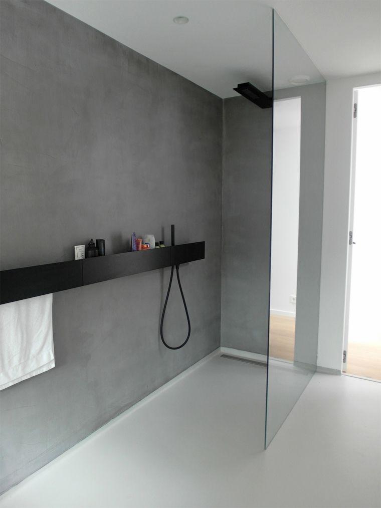 suelo y paredes de baño Badkamer Pinterest Suelos, Baño y Baños - paredes de cemento