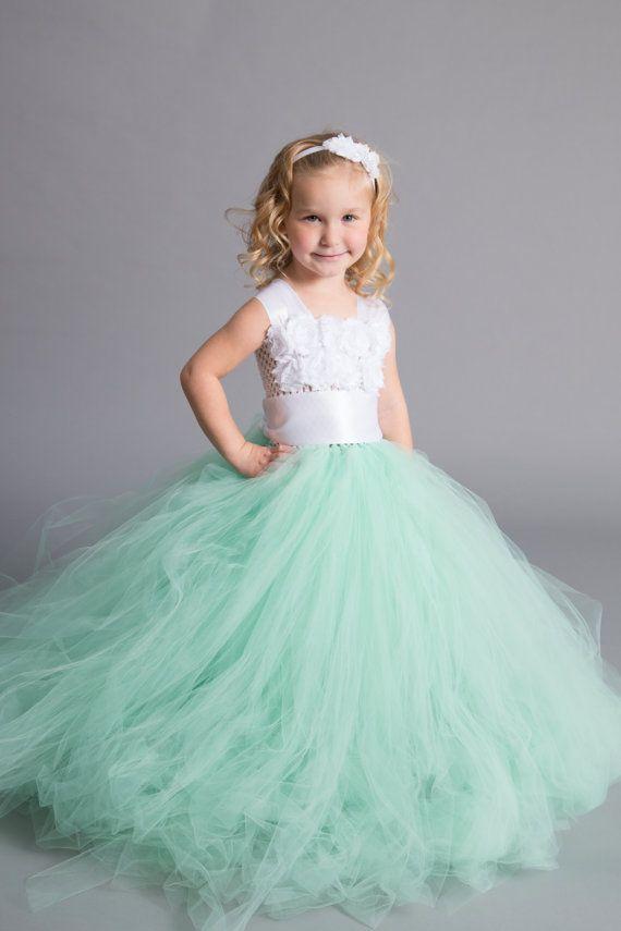 Mint Flower Girl Tutu Dress-Mint Tutu Dress-Mint Girl Tutu-Mint Flower Girl-Mint Wedding Tutu.Mint Tutu.Mint dress.