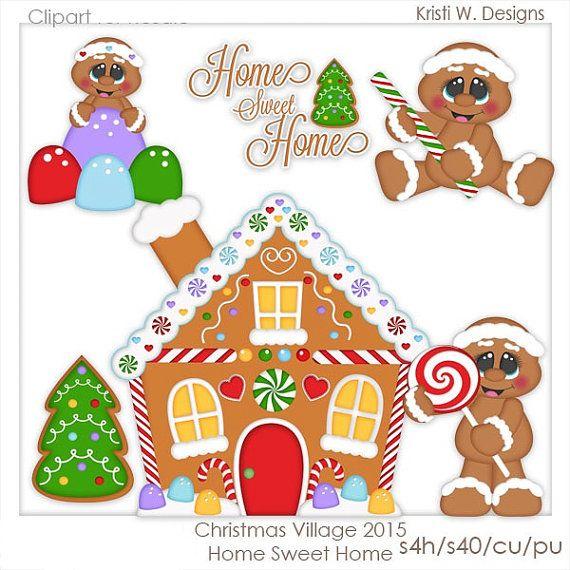 DIGITAL SCRAPBOOKING CLIPART - Home Sweet Home Digital