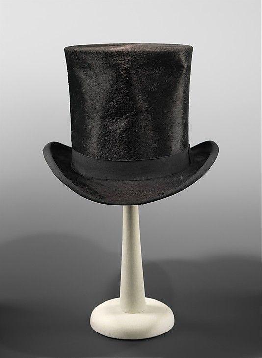Melton Top Hat British The Metropolitan Museum Of Art Victorian Hats Top Hat Hats