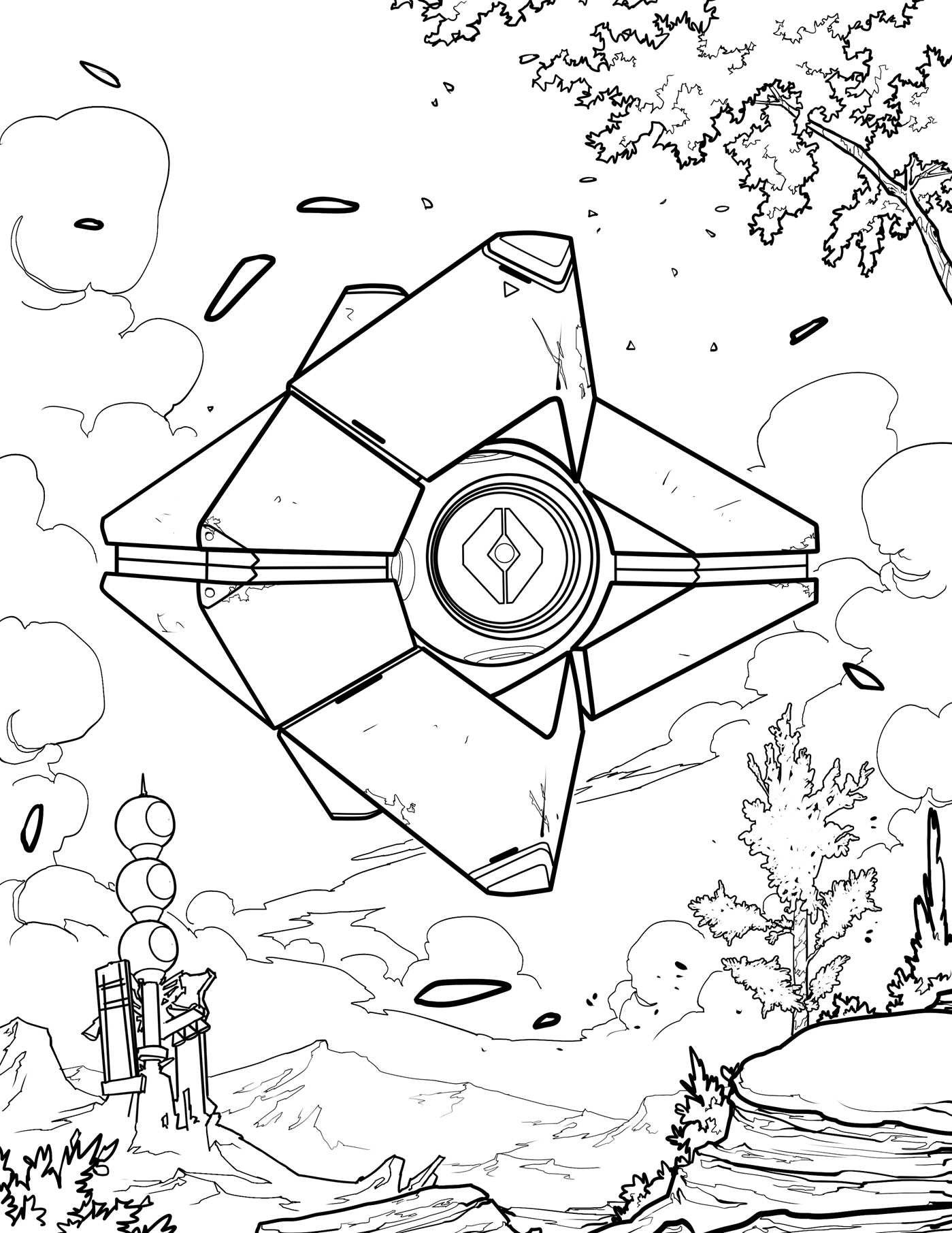 Destiny Coloring Page Destiny Game Destiny Ideas Coloring Pages
