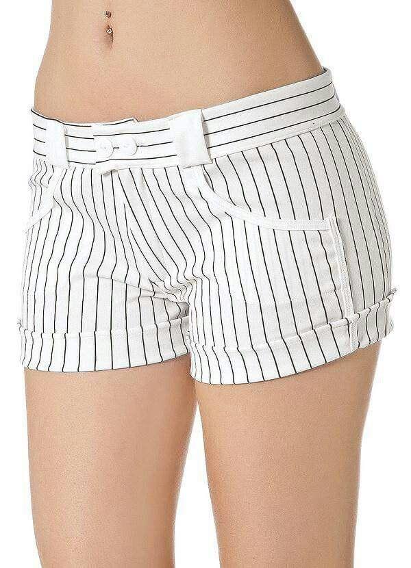 Bello Short La Rayas Combinadas A La Perfeccion Lo Amooo Pantalones Cortos De Mujer Pantalones Femeninos Shorts De Moda