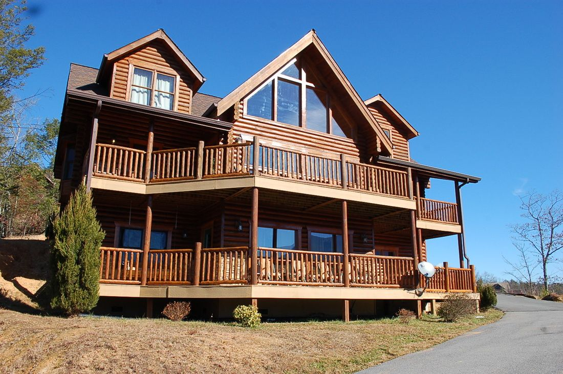 Mountain view retreat tennessee cabin rentals log cabins in the smoky mountains