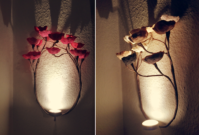 Lampadario Di Carta Velina : Lampada da parete lampada di carta eco interior design paper light
