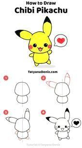 #Chibi  #Draw  #Pikachu #chibi #Pikachu  How to draw chibi Pikachu  Learn to draw chibi Pikachu step by step with this cute and easy drawing tutorial.    This image has get 59 repins.    Author: 김세진