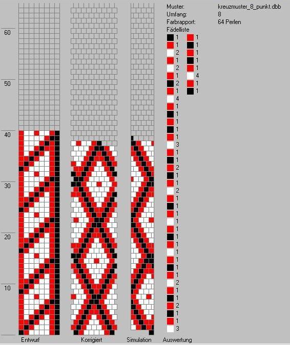 Schlauchketten Häkeln Musterbibliothek Kreuzmuster8punkt