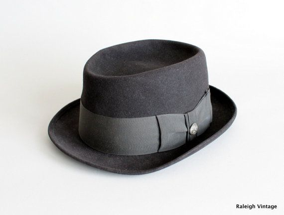 Cappello vintage 1950 Cappello Piatto A Falda Tesa 86adefab27c7