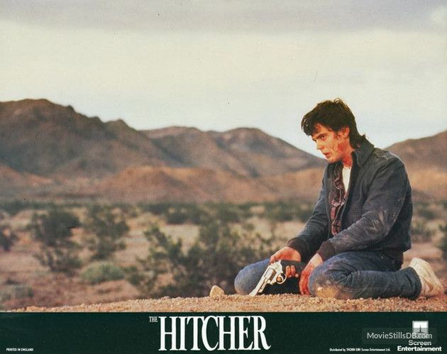 The Hitcher - Lobby card with C. Thomas Howell