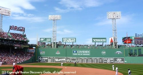 The Green Monster Behind 3rd Base MonstersFenway Park