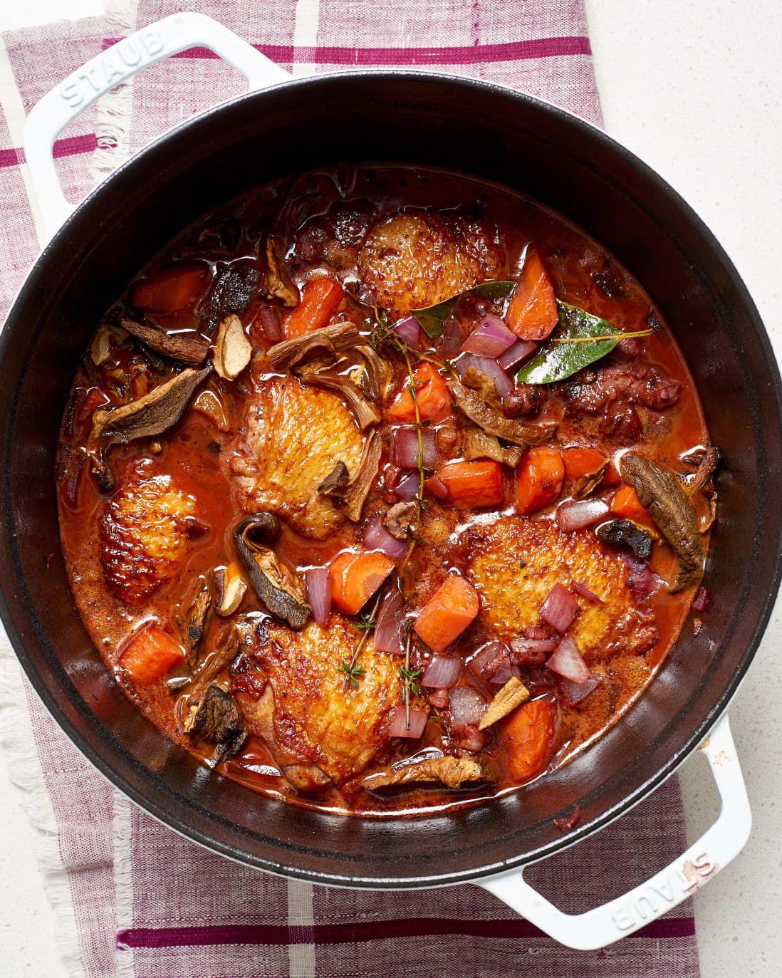 Recipe Weeknight Coq Au Vin Recipe Coq Au Vin Recipes Cooking Recipes
