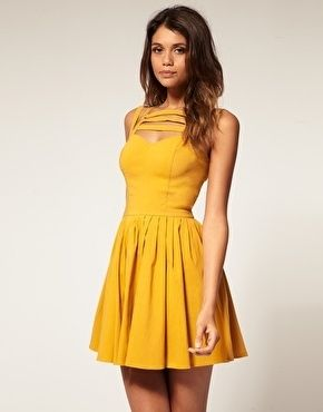 ASOS Skater Dress With Multi Strap - StyleSays