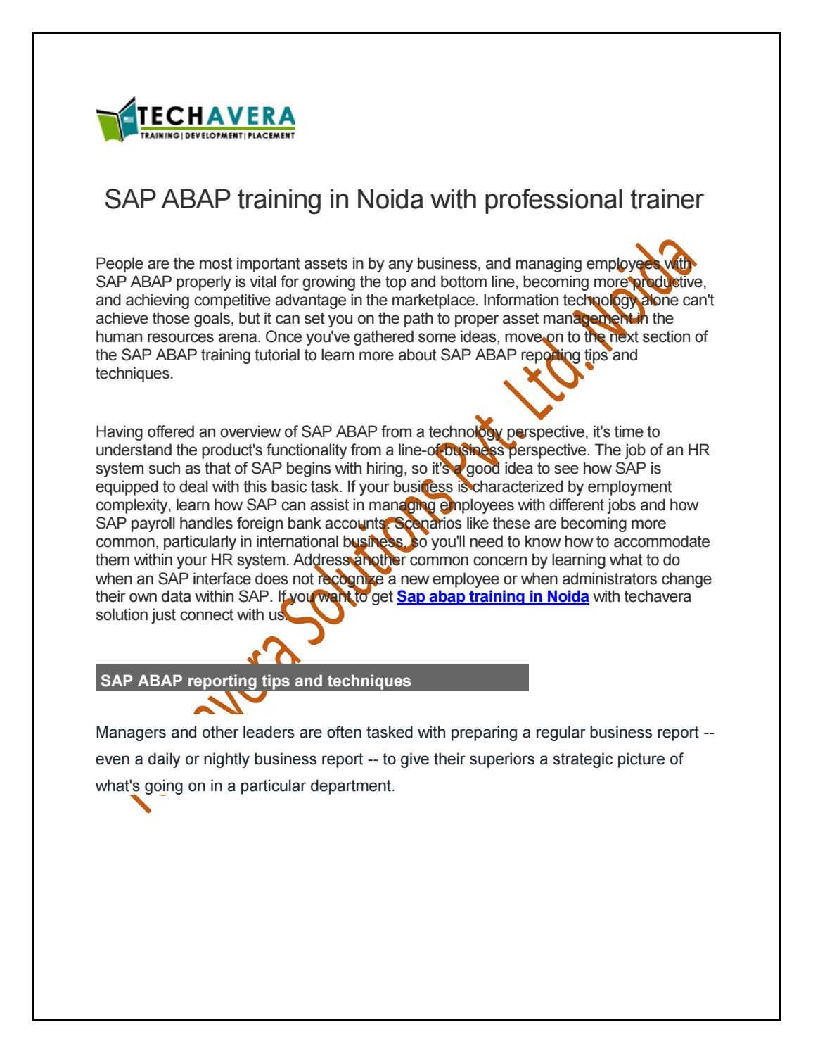 Get Sap Pp Training In Noida With Professional Trainer