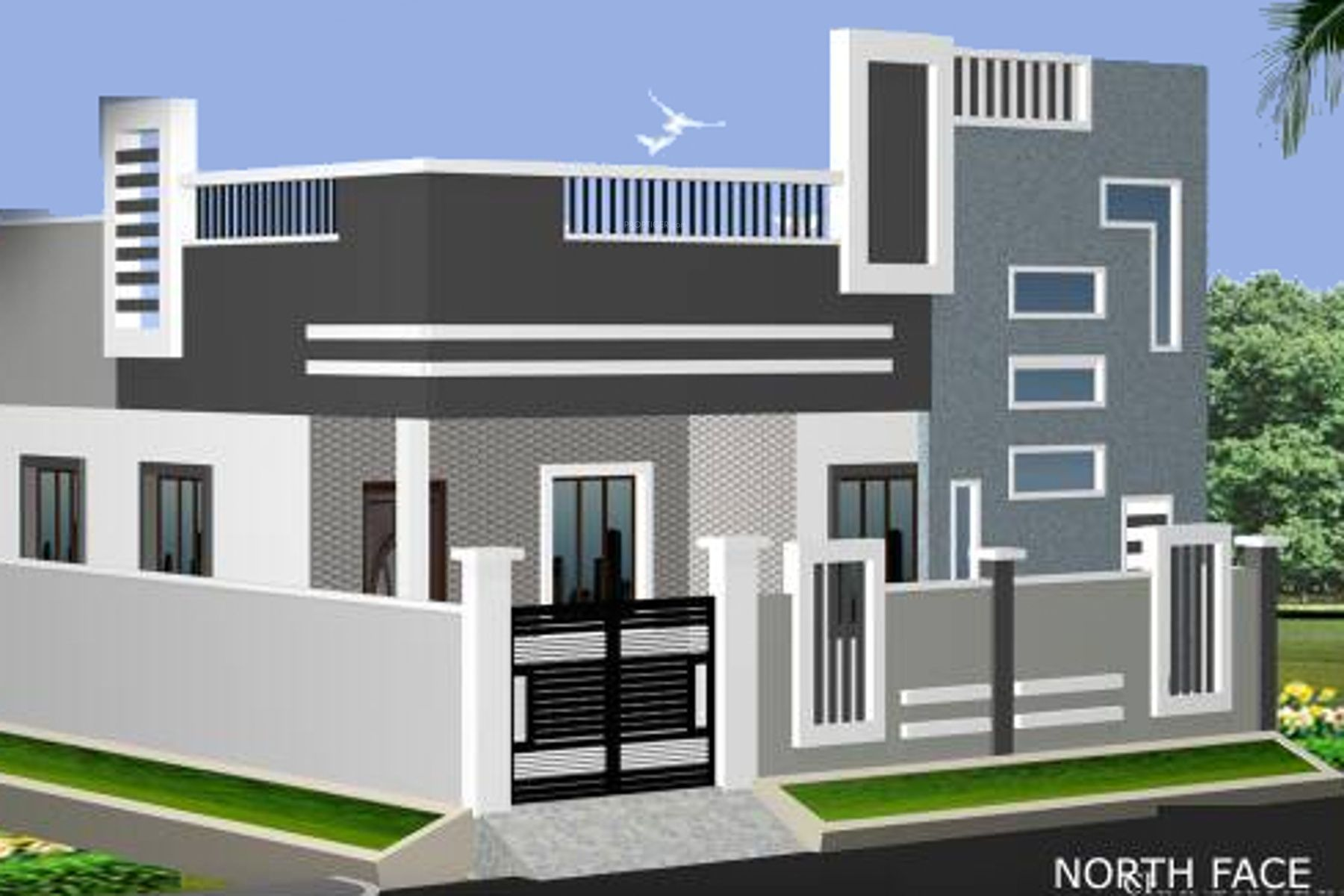 See Picture Of Main Elevation 2 Of Chandrakanth Constructions Rose Gardens At Nagaram Available Rs 2 House Outer Design Duplex House Design Independent House
