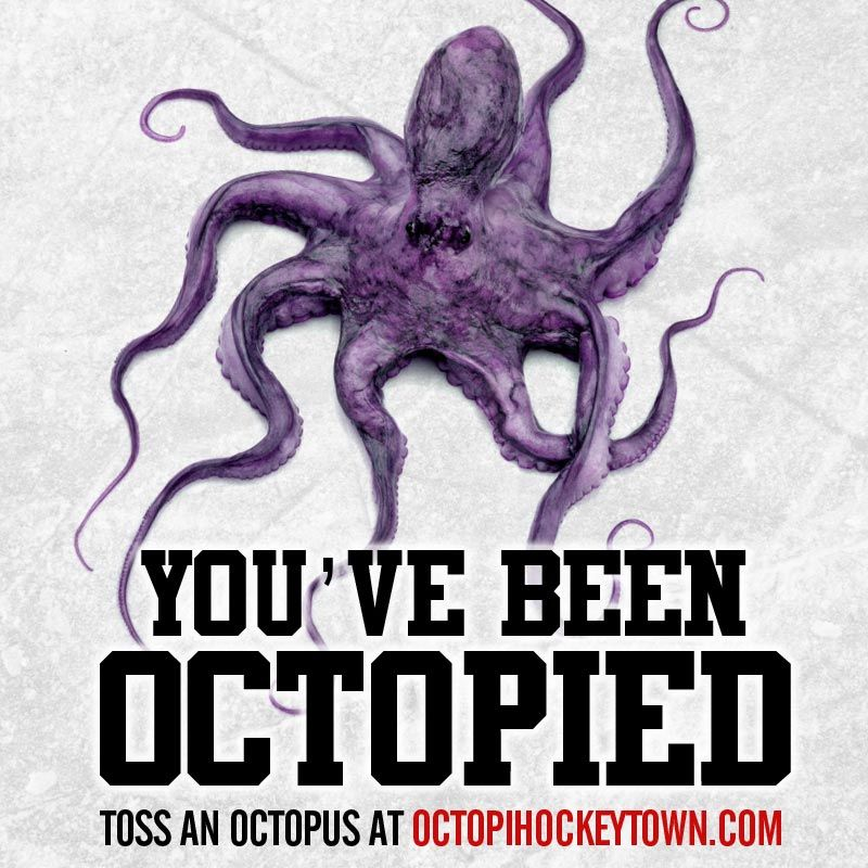 Octopi Hockeytown Google Search Detroit Red Wings Red Wings Hockey Detroit Sports