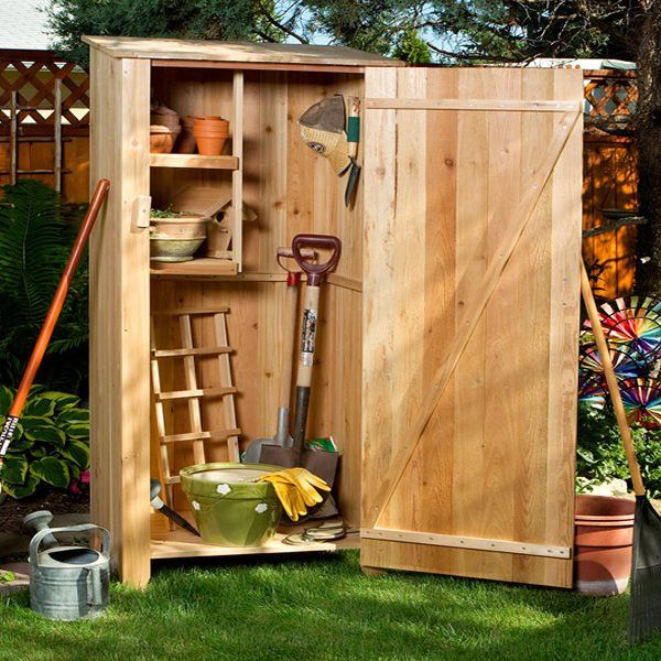 All Things Cedar Garden Storage Unit 27 X 20 X 73 Garden Storage Shed Garden Storage Garden Tool Storage