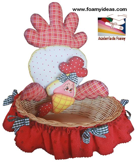 Basket For Eggs For Tu Mami S Birthday Made From Foam Eva Portahuevos O Canasta Para Guardar Huevos Para Cumpleanos De Tu Manualidades Portahuevos Gallinas