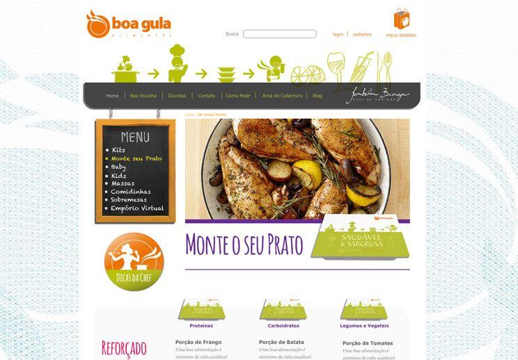 Design para o site de e-commerce Boa Gula, veja o case completo em nosso site: www.ewcom.com.br
