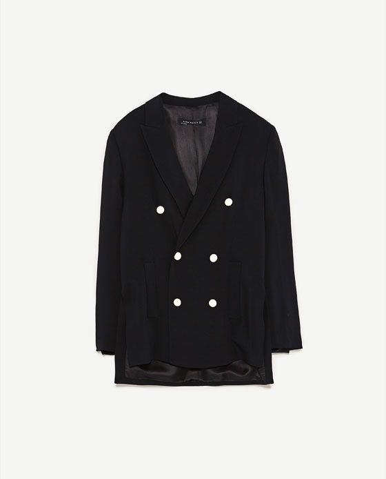2c1ed742 Image 8 of DOUBLE BREASTED JACKET WITH PEARL BEADS from Zara | style ...