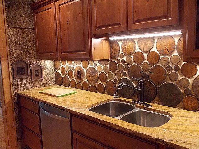 Back Splash Rustic Kitchen With Pfister GT34 PT Marielle Kitchen Faucet  With Sidespray And Soap