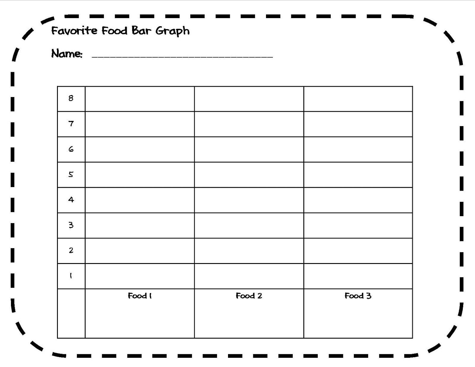 favorite food bar graph activity (1st-4th grade) | school stuff- l