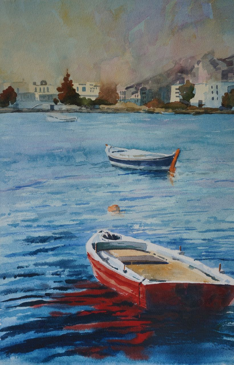 Representational Paul . Valdez Seascapes Boats