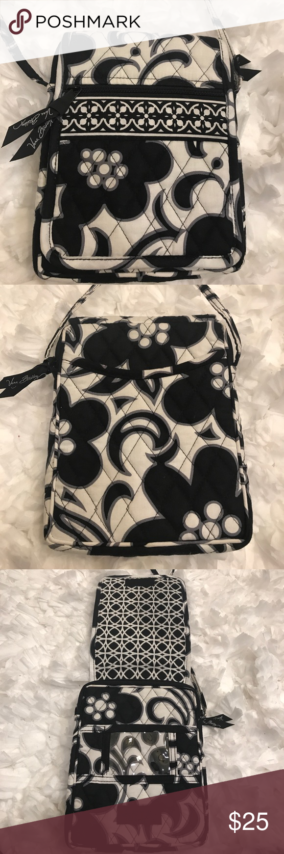 Vera Bradley Mini Hipster Crossbody Like new condition. No signs of wear. Mini Hipster. Night and Day pattern. Velcro shut. Lots of different pockets. Vera Bradley Bags Crossbody Bags