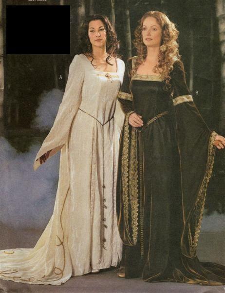LOTR Medieval/Renaissance Dress/Cape SEWING PATTERN | Fantasy und ...