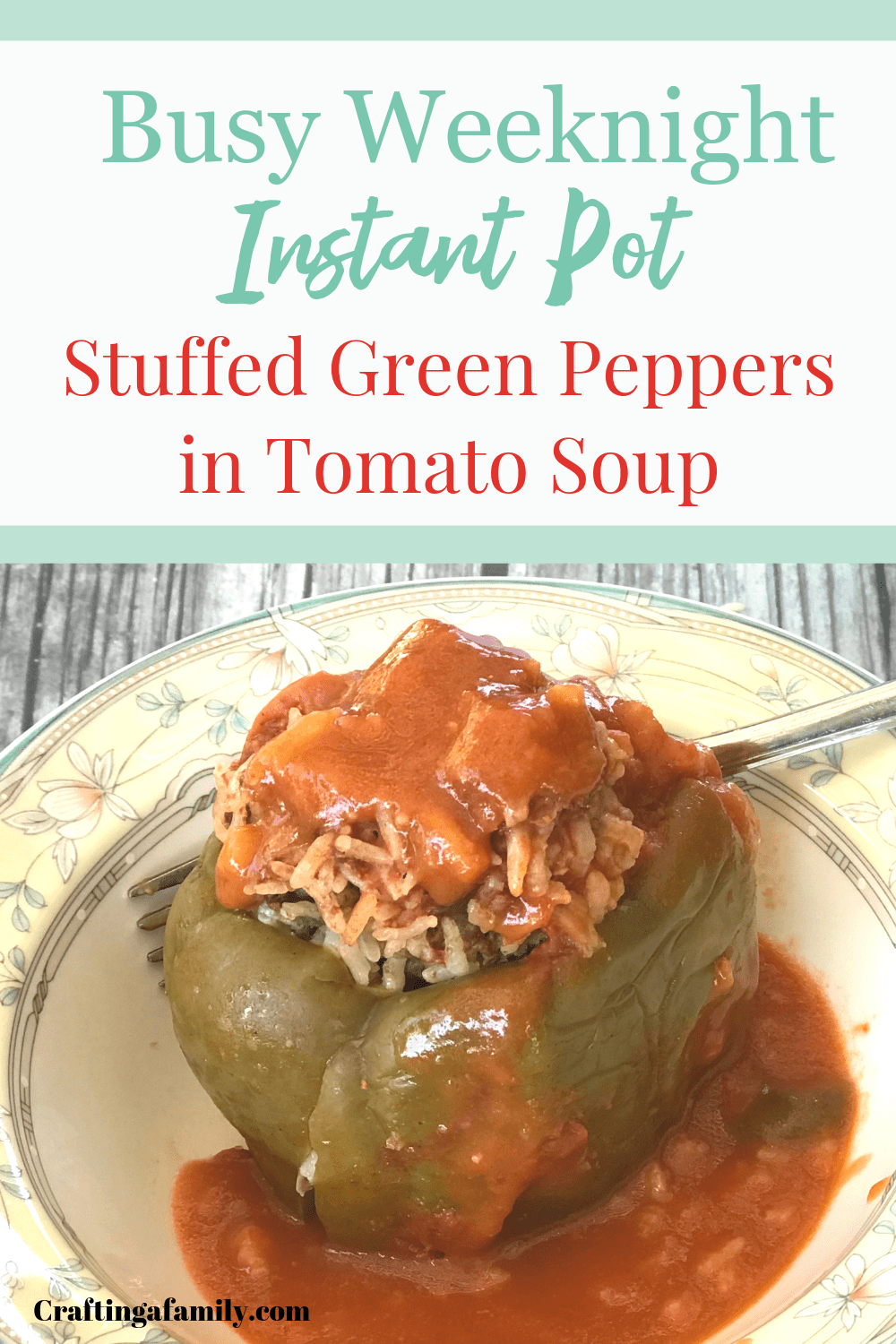 Simmering Stuffed Green Peppers Fresh From The Garden Has Been A Tradition In Our Italian Side Stuffed Green Peppers Stuffed Peppers Dinner Recipes Easy Quick