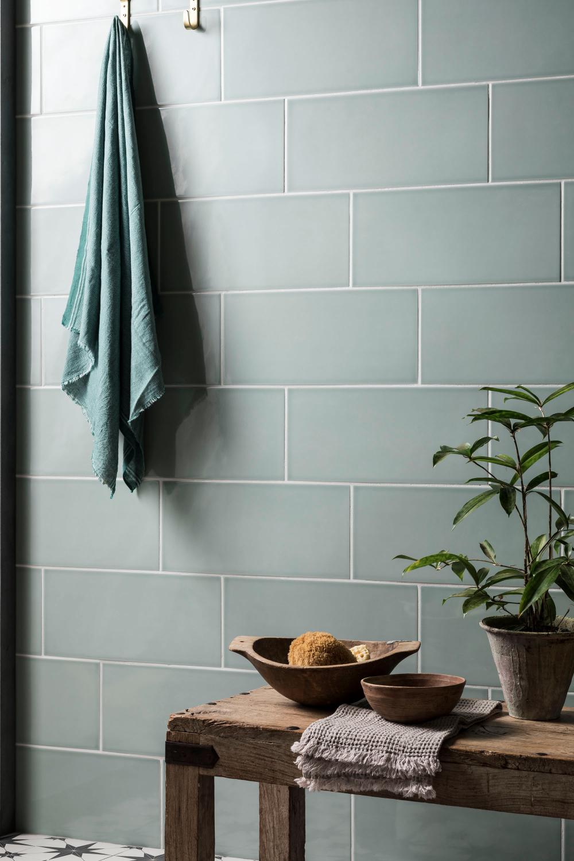 pigment teal gloss ceramic  ceramic tile bathrooms