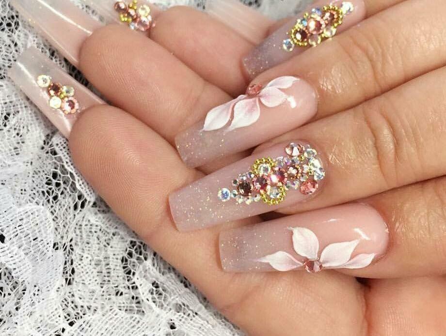 Bridess nails. Uñas para novias. 3D. | Arte de uñas | Pinterest ...