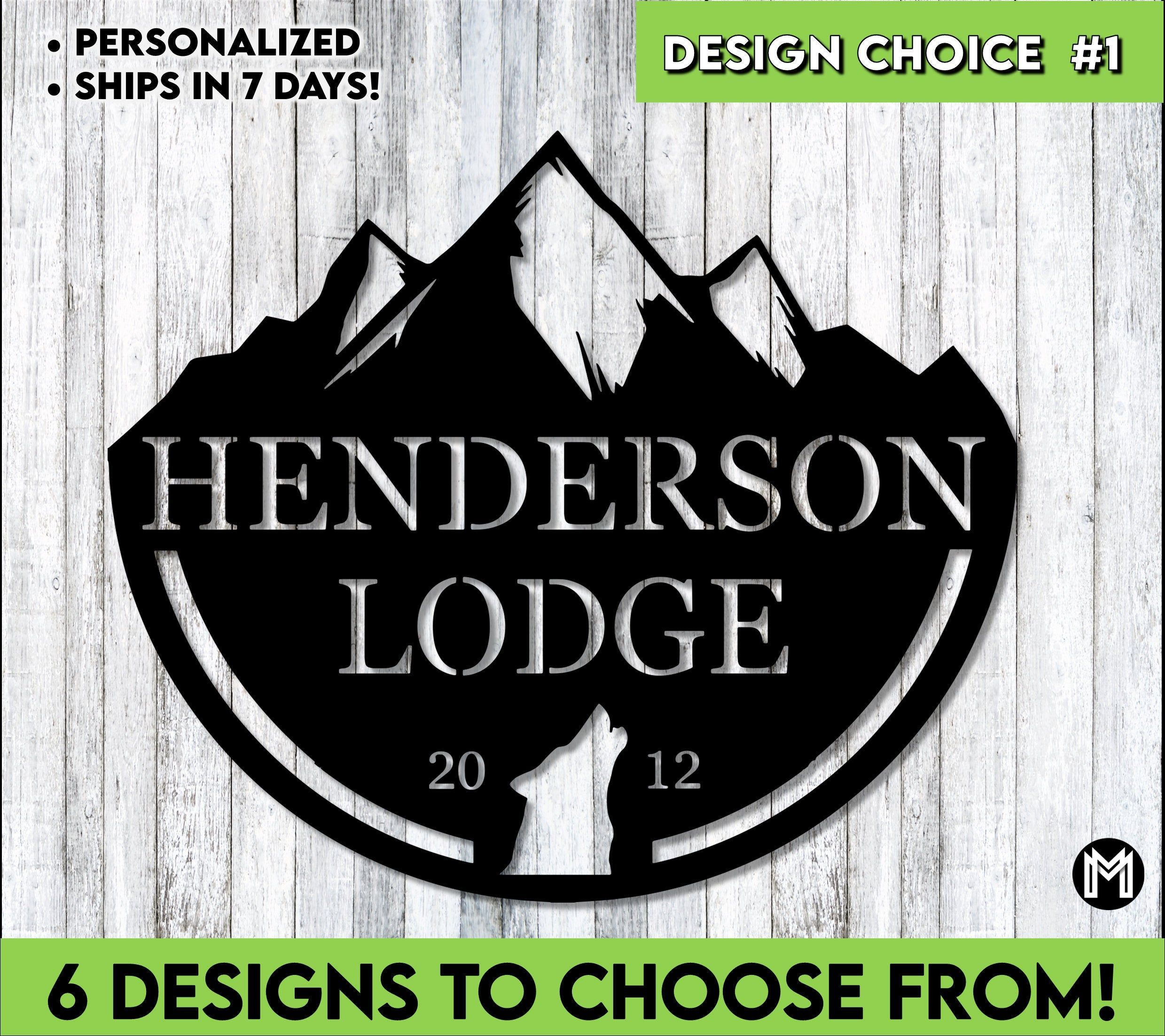 Custom Sign | Lodge Sign | Cabin Sign | Personalized | Nature | Monogram | Lakehouse Sign | Personalized Gift |  Housewarming | Mountains