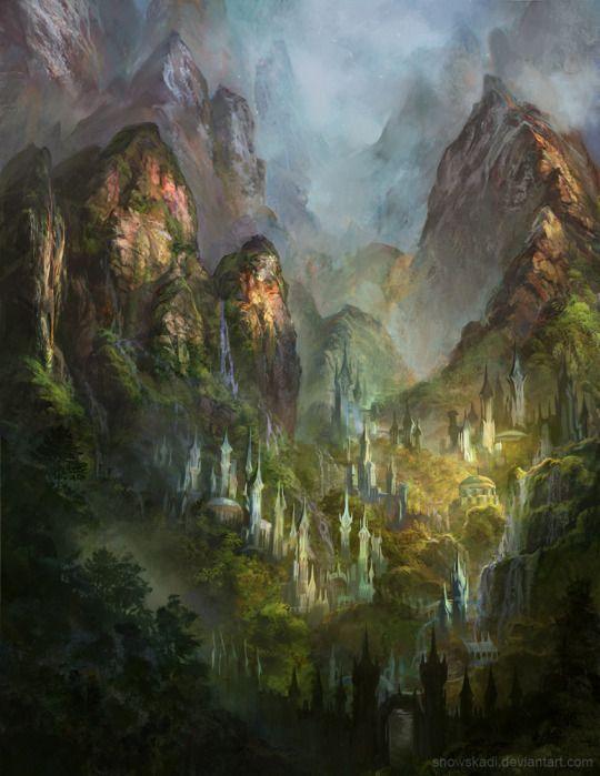 Castles in the sky. | Fantasy Art in 2019 | Fantasy art ...