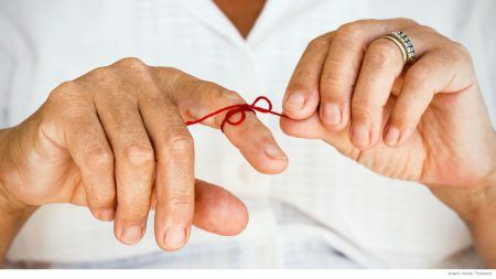 Image result for string around finger elderly