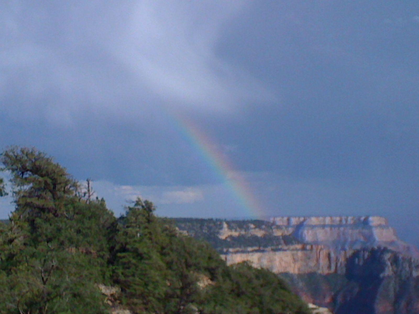 Rainbow at the Grand Canyon