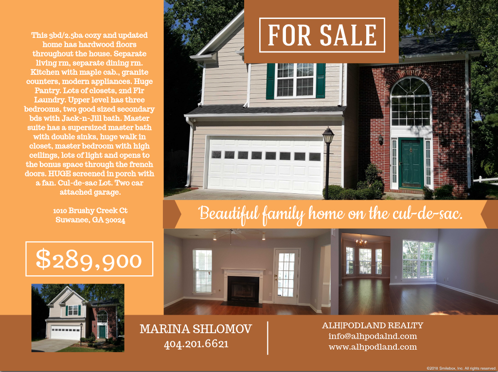 Home For Sale In Hot Suwanee Area Just Listed 3 2 5 Great Schools Cozy And Updated Home Has Hardwood Floors Throug Sale House Renting A House House Rental
