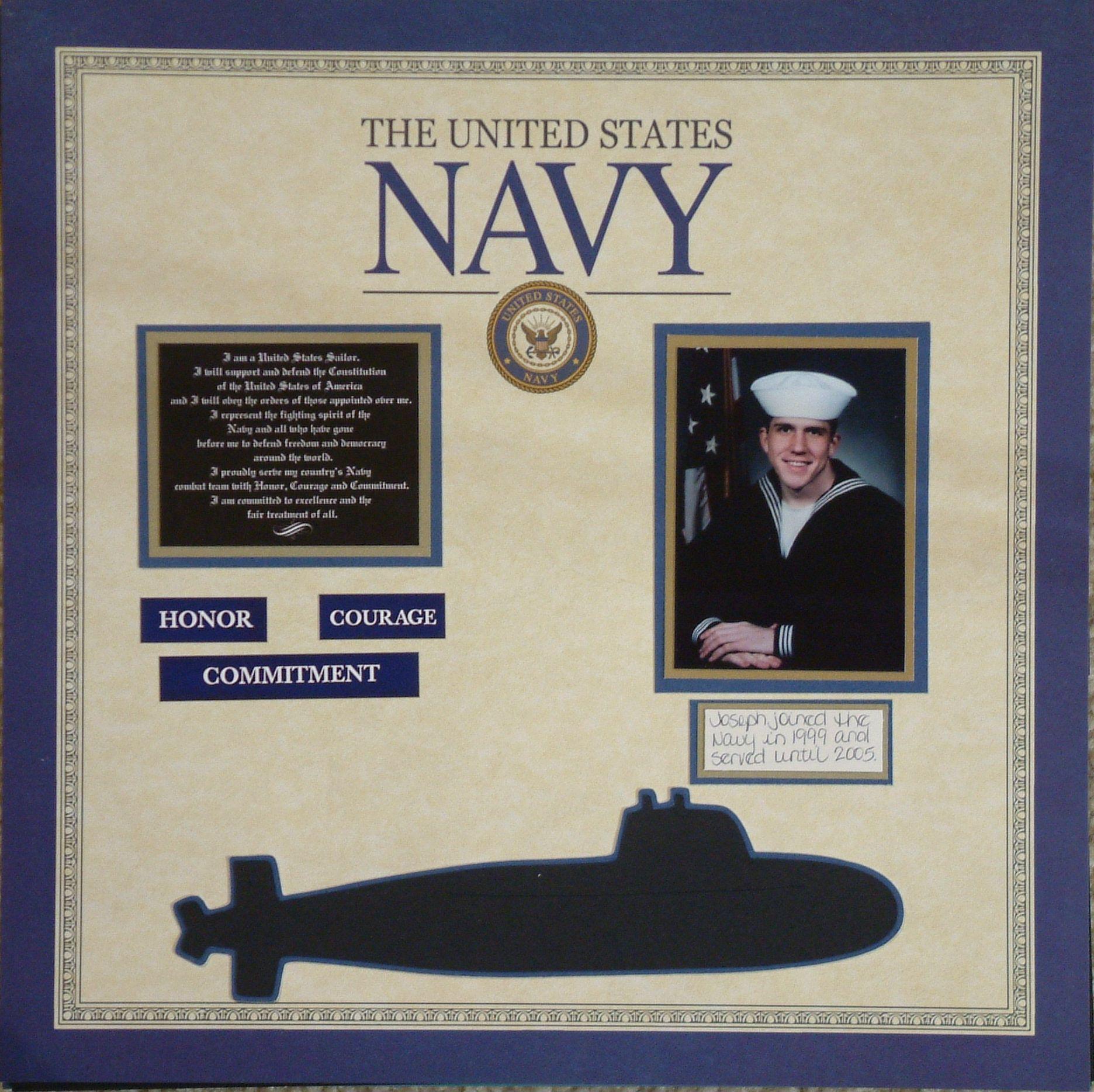 Vietnam scrapbook ideas - Navy Scrapbook Com He Served 5 Years In The Navy He Is Now
