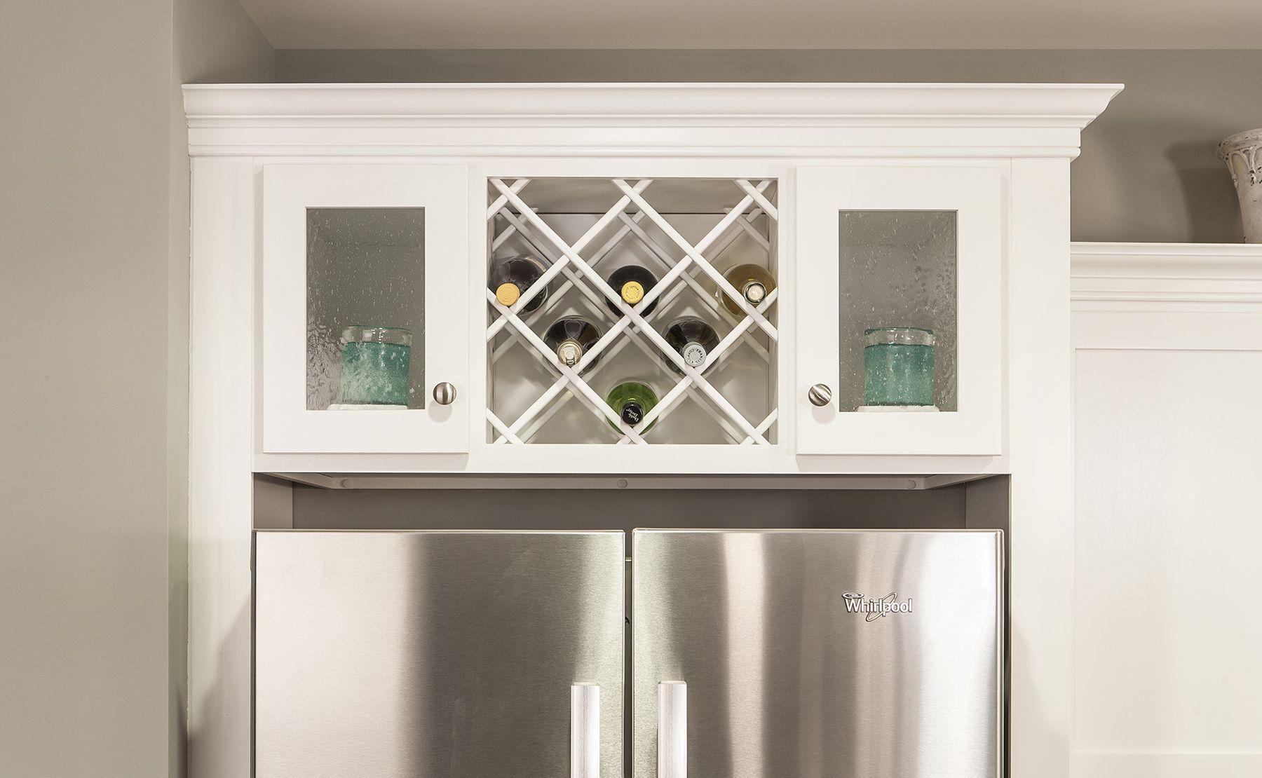 Wine Storage Over The Refrigerator Kitchen Wine Rack Kitchen